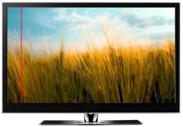 На экране телевизора черная полоса. Почему на экране телевизора появились полосы